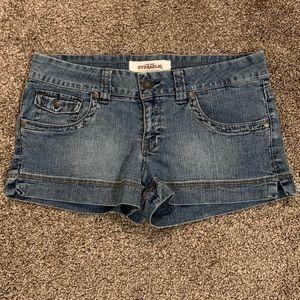 Hydraulic Premium Denim Medium Color Jean Shorts